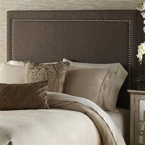 brown queen size upholstered headboard