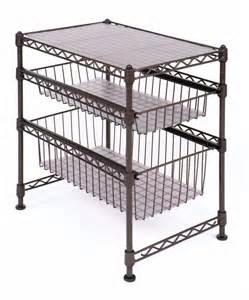 sliding wire shelves 2 tier wire shelf sliding basket storage rack stand