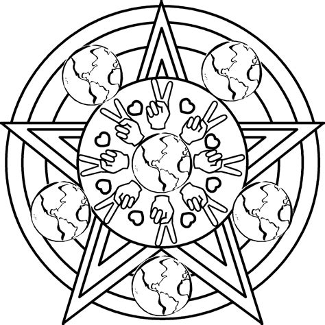peaceful patterns coloring pages mandala clip art clipart best
