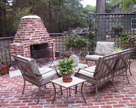 vintage brick small and simple design for patio brick