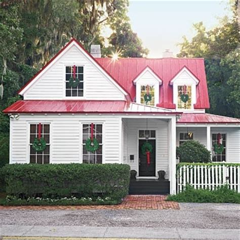 Shingle Style Cottages red roof cottage white house pinterest