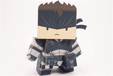 Metal Gear Papercraft - metal gear solid snake free paper