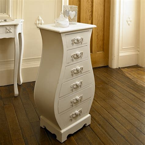 pays blanc range antique white tall curved chest