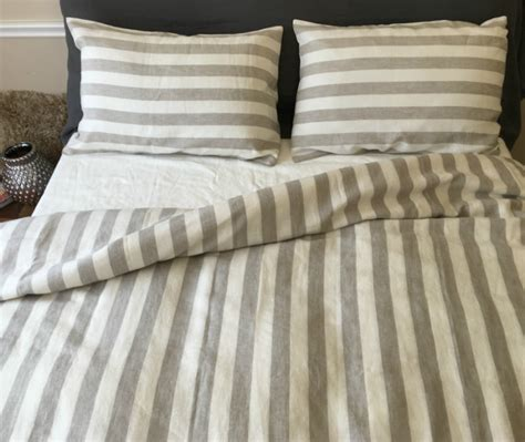 Handmade Duvet Covers - striped duvet cover handmade in linen superior
