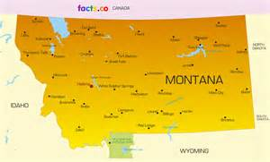 Montana Map With Cities by Montana Map Blank Political Montana Map With Cities