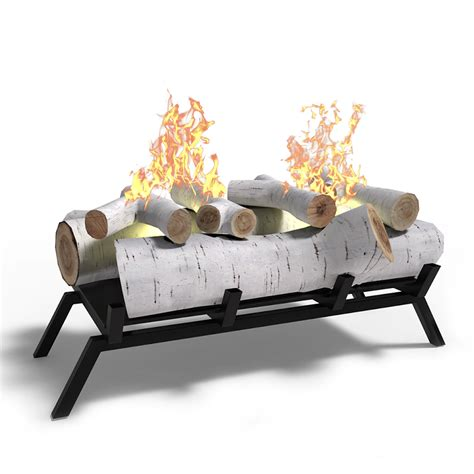 ethanol fireplace insert logs elite 18 quot birch convert to ethanol fireplace log set