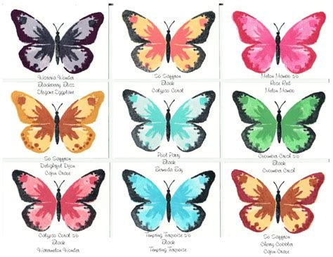 Butterfly Colour watercolor wings ideas by lorita koehn just trying out