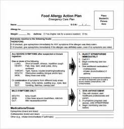 allergy action plan template 11 free sample example