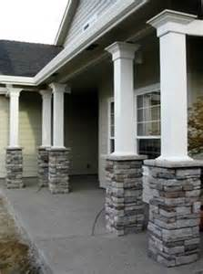 Home Exterior Design With Pillars Outside Remodeling On Pinterest Porch Columns Craftsman