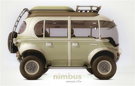 electric volkswagen van the nimbus concept is a futuristic 4x4 take on the vw bus