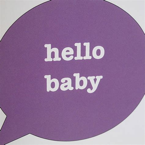 hello baby hello baby new baby card by edamay
