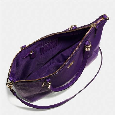 Coach Kelsey Small F56127 Metallic Pebble Leather Bronze coach small kelsey crossbody in pebble leather in lyst