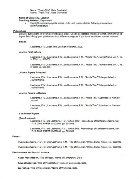 Resume Outline Template ? 13  Free Sample, Example, Format