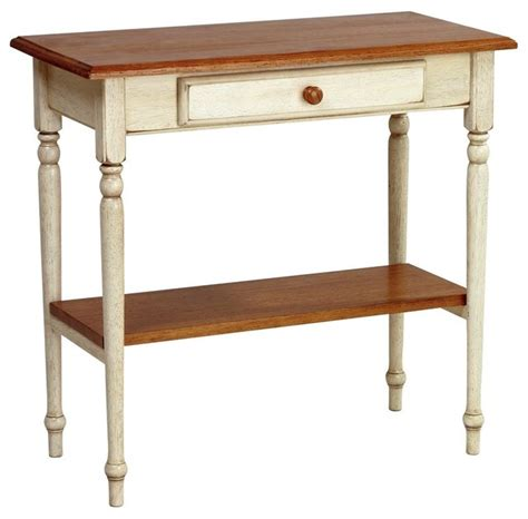 Cottage Console Table by Cottage Style 2 Tone Finish Foyer Table W She