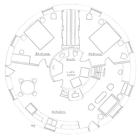 circular house floor plans round house earthbag house plans