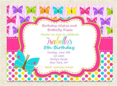 butterfly birthday card template butterfly birthday invitations