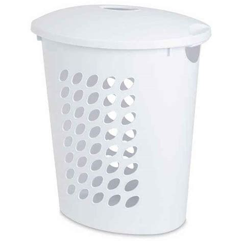 plastic laundry with lid sterilite oval laundry her with lid white laundry her