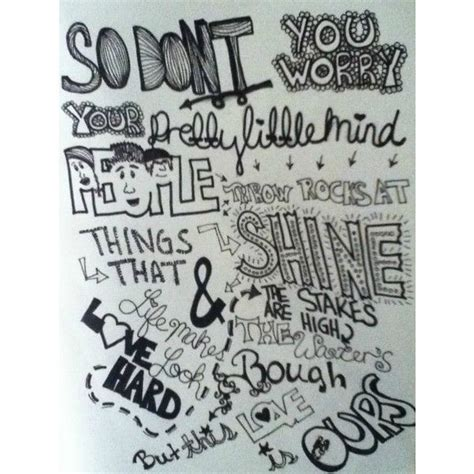 Sketches A Song by Lyric Drawings Found On Polyvore Artsy