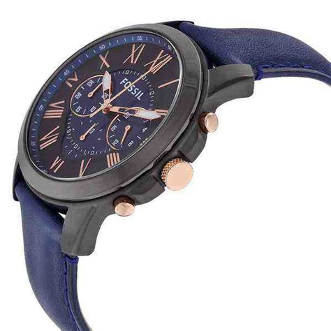 Fossil Fs 5061 Original jual fossil fs5061 grant chronograph navy leather baru