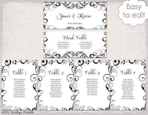 Table Planner Template by Template For Wedding Table Plan Enaction Info