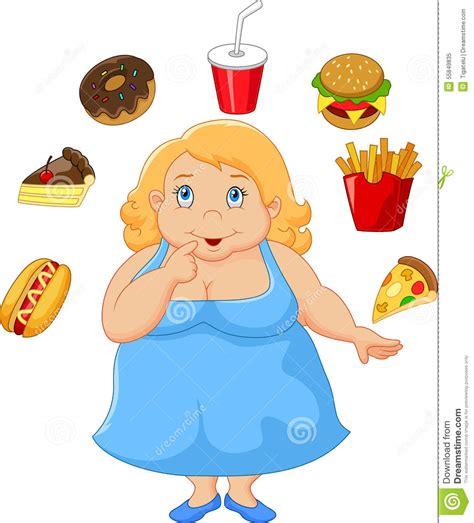 clipart donne donne grasse fumetto un alimento di pensiero