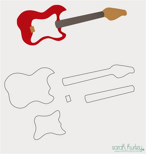 bass guitar template hurley you rock card guitar template