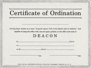 deacon ordination certificate template error