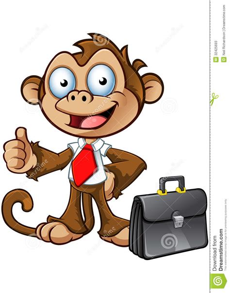 Business monkey character thumbs up stock photos image 32425693