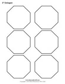 Octagon Shape Template by Free Printable Octagon Templates Blank Octagon Shape Pdfs