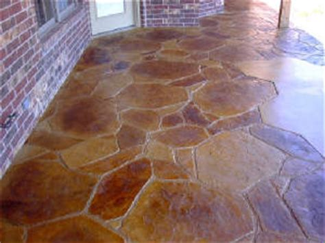 flagstone sted concrete