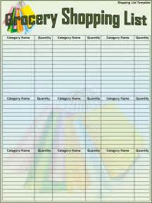 Shopping Lists Template by Shopping List Template Search Results Calendar 2015