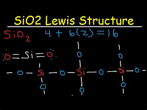 lewis diagram for silicon sio2 lewis structure as a molecule and network covalent