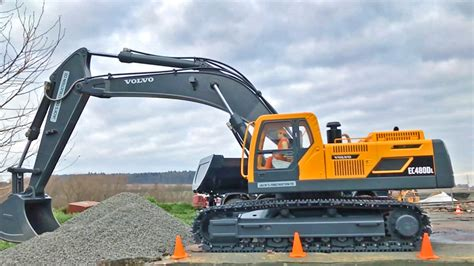 rc excavator volvo ecdl rc review test bruder rc world youtube