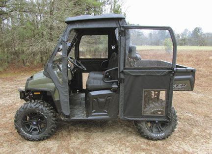 mid size polaris ranger steel framed doors kit | utv cab