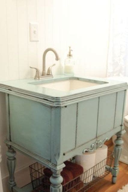 29 Vintage And Shabby Chic Vanities For Your Bathroom Repurposed Furniture For Bathroom Vanity