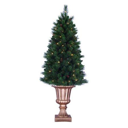 walmart christmas trees potted general foam plastics ts raf145231 artificial pre lit tree potted indoor outdoor 5