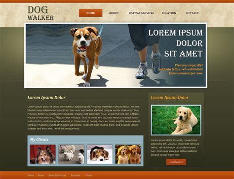 puppy websites walker website template free walking templates phpjabbers