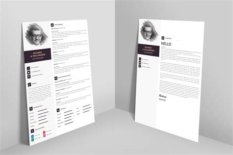 Cover Letter Template Psd creative professional resume cv design template with