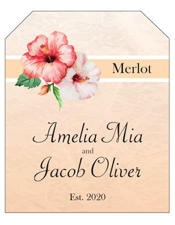 Wedding Bell Labels by Custom Wine Bottle Labels And Personalized Wine Bottle