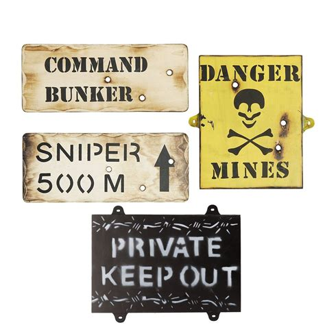 bedroom signs set of 4 wooden army wall signs kids army bedroom signs