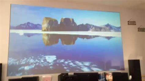 grey projection projector screen home theater epson