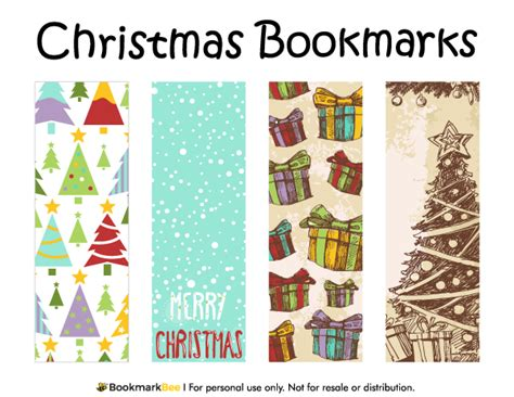 printable bookmarks pdf free printable christmas bookmarks download the pdf