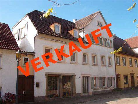 immobilien haus zu verkaufen barockes wohnaus im ortskern bartenstein hohenlohe zu