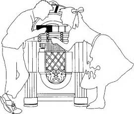 50s Jukebox Clipart  Kid sketch template