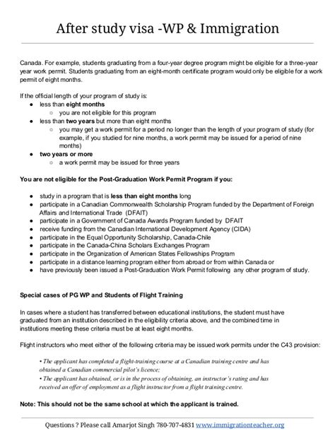 Work Experience Letter Immigration Options For Foreign Students In Canada Work Permit And Immigration