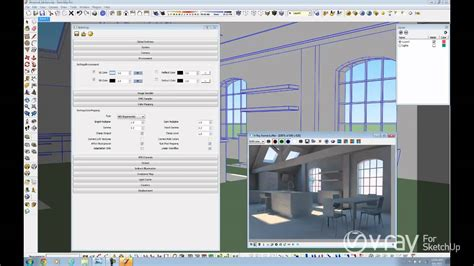 tutorial sketchup render vray v ray for sketchup daylight set up interior scene