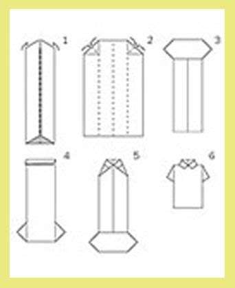 How To Fold A Shirt With Paper - shirt tie michie