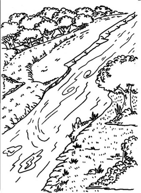 coloring page river river printable coloring pages