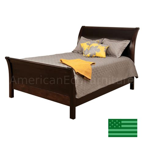 Solid Wood Sleigh Bed Amish Classic Sleigh Bed Solid Wood Made In Usa American Eco Furniture