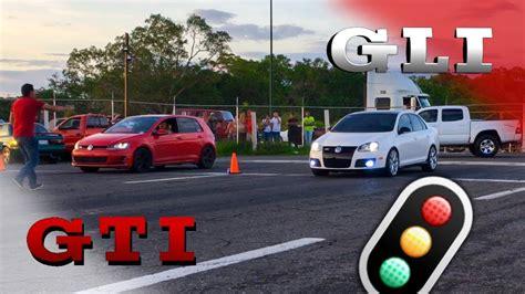 Mk7 Jetta Gli by Golf Gti Mk7 Vs Jetta Gli Mk5 L Drag Race Arrancones